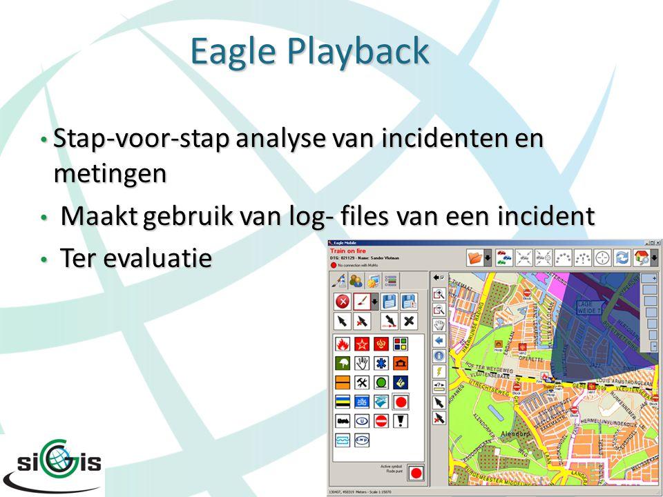 Stap-voor-stap analyse van incidenten en metingen Stap-voor-stap analyse van incidenten en metingen Maakt gebruik van log- files van een incident Maak