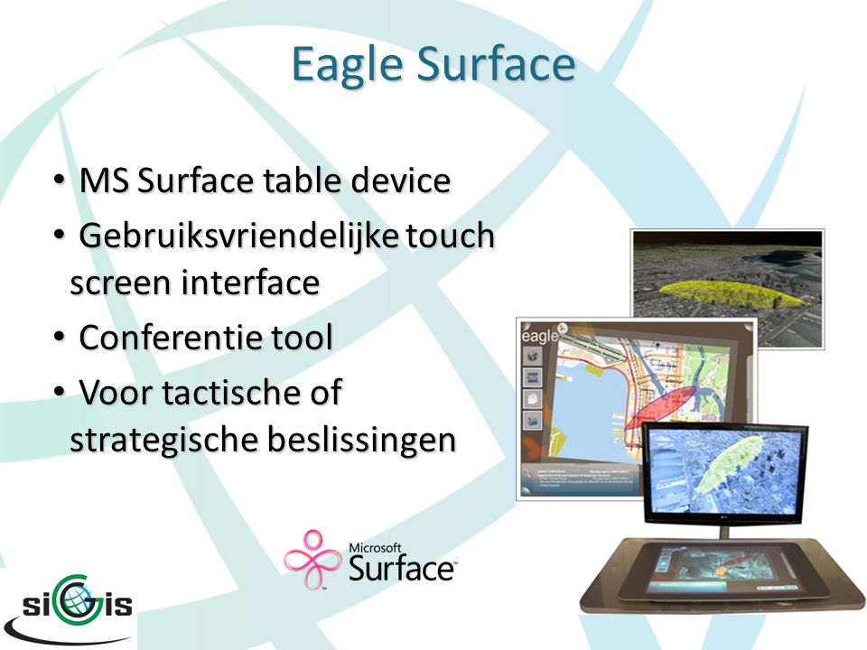 Eagle Surface MS Surface table device MS Surface table device Gebruiksvriendelijke touch screen interface Gebruiksvriendelijke touch screen interface