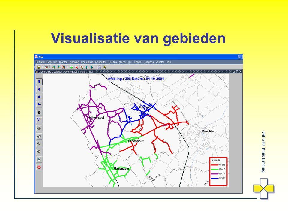 Wit-Gele Kruis Limburg Visualisatie van gebieden