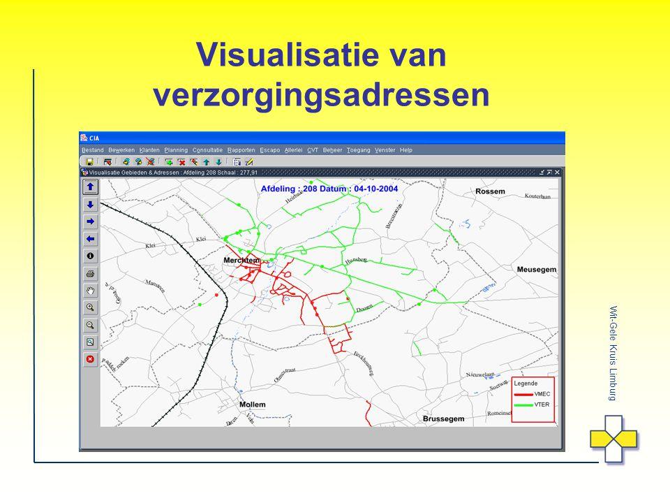 Wit-Gele Kruis Limburg Visualisatie van verzorgingsadressen