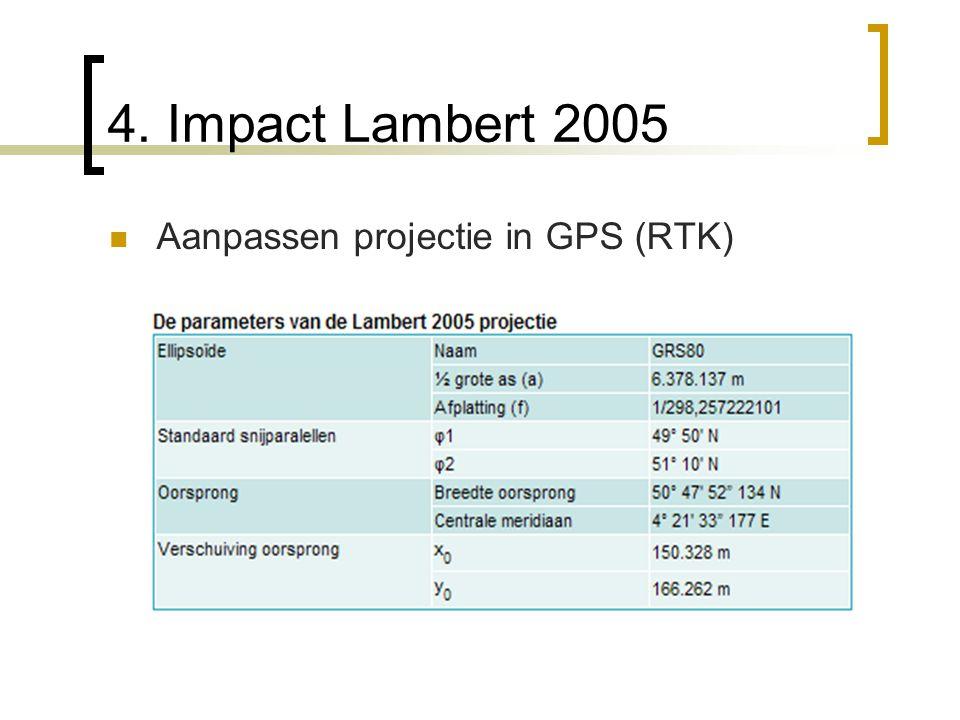 4. Impact Lambert 2005 Aanpassen projectie in GPS (RTK)