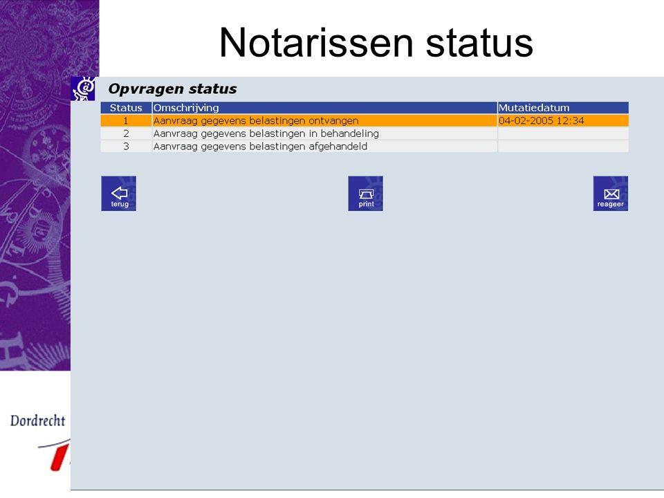 E-Team 2005 Notarissen status
