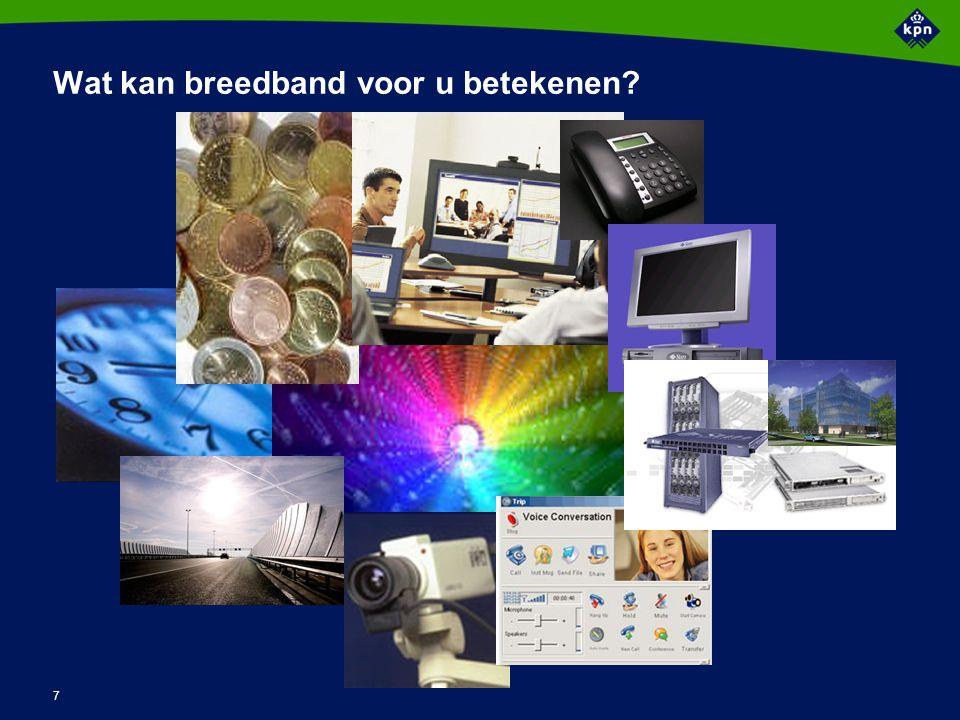 7 Wat kan breedband voor u betekenen