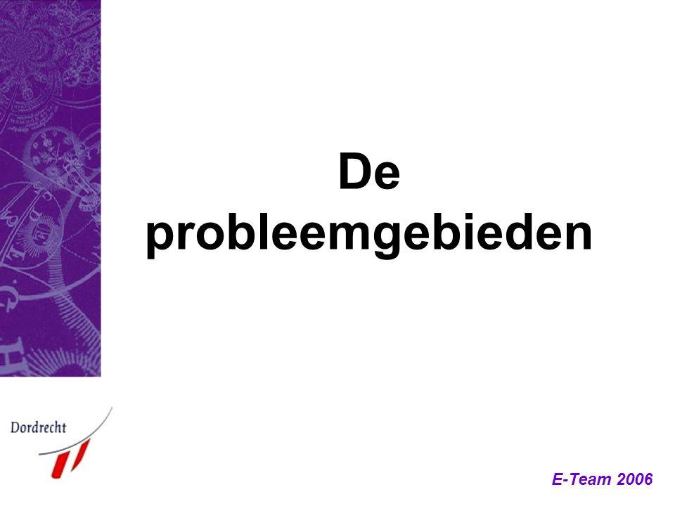 E-Team 2006 De probleemgebieden