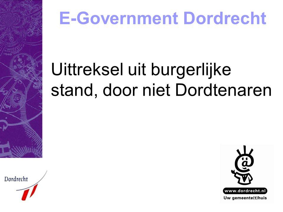 E-Government Dordrecht Uittreksel uit burgerlijke stand, door niet Dordtenaren