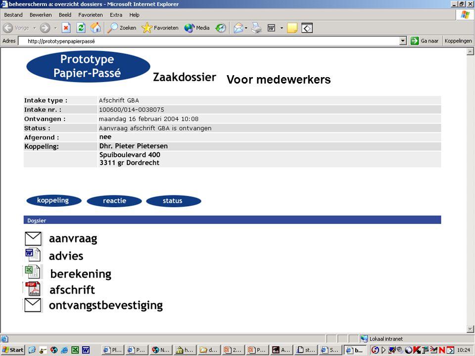 E-Team 2006 Zaak-dossier Voor medewerkers