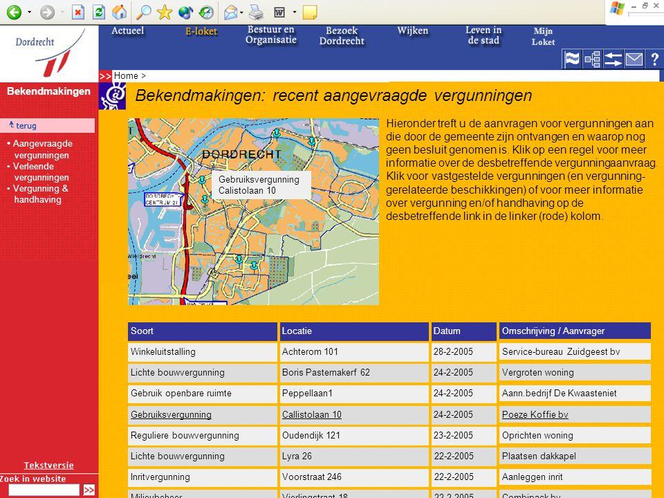 Portaal Vergunning & Handhaving Dordrecht Vergunning & Handhaving Mijn (V&H-)loket Bekendmakingen Aanvragen en beschikkingen Vergunning aanvragen Afwi