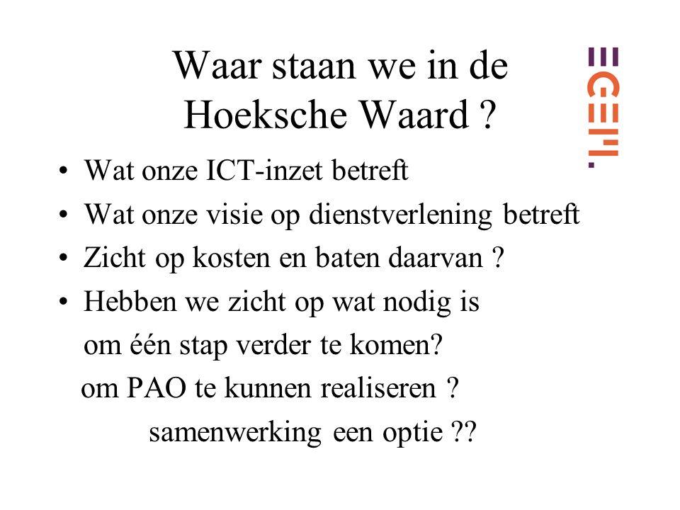 Waar staan we in de Hoeksche Waard .