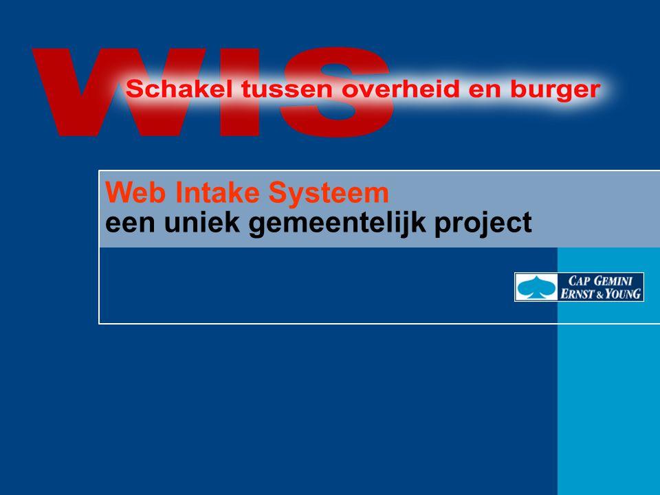 Web Intake Systeem een uniek gemeentelijk project
