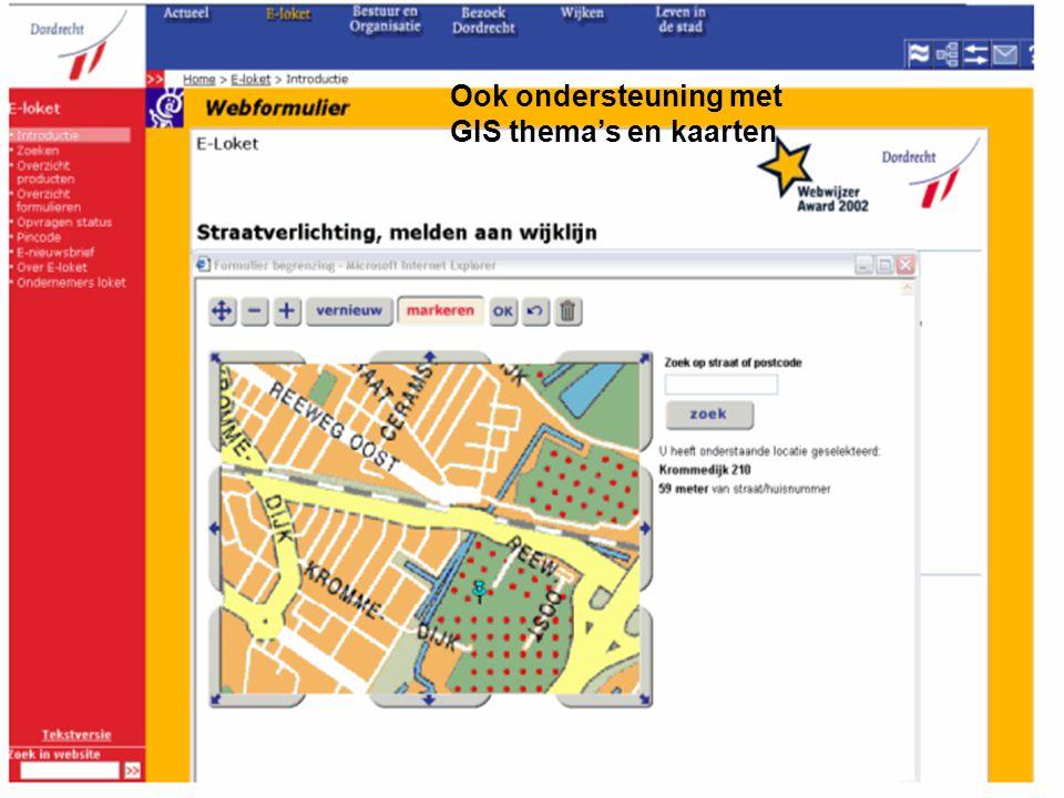PresentatiebureauWvg18 Ook ondersteuning met GIS thema's en kaarten