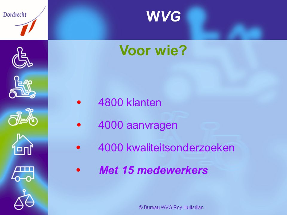 PresentatiebureauWvg4 © Bureau WVG Roy Hulisélan WVG Voor wie.