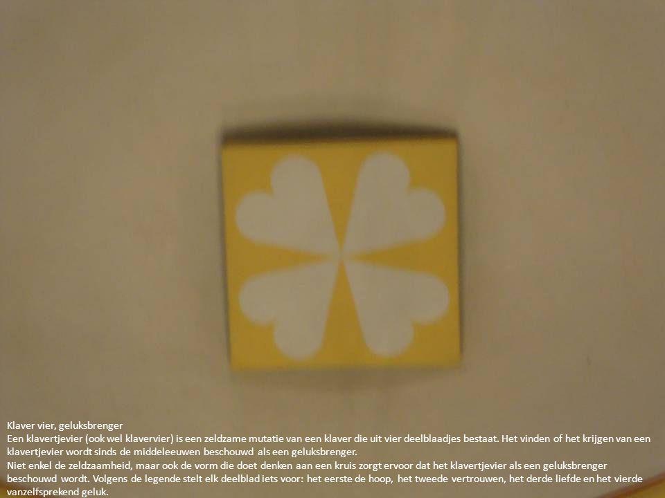 Klaver vier, geluksbrenger Een klavertjevier (ook wel klavervier) is een zeldzame mutatie van een klaver die uit vier deelblaadjes bestaat. Het vinden