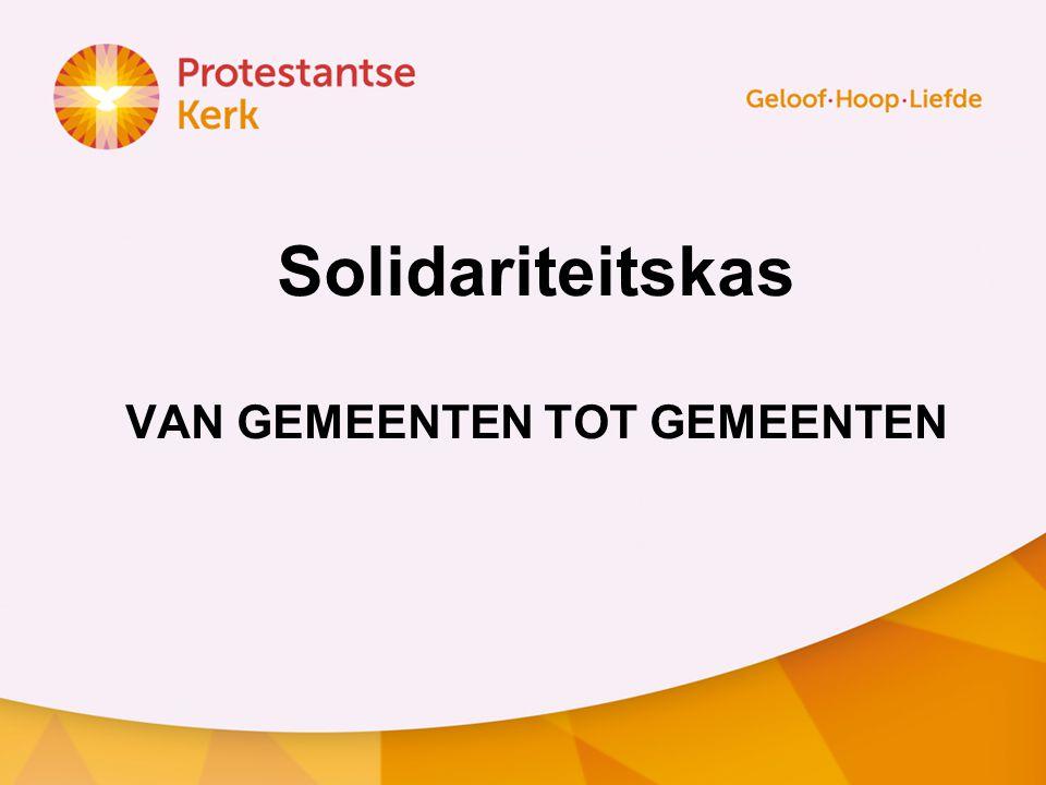 Solidariteitskas VAN GEMEENTEN TOT GEMEENTEN