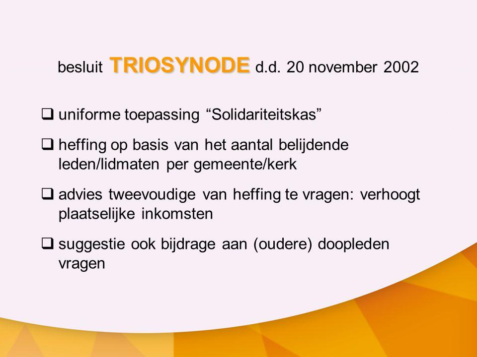 TRIOSYNODE besluit TRIOSYNODE d.d.