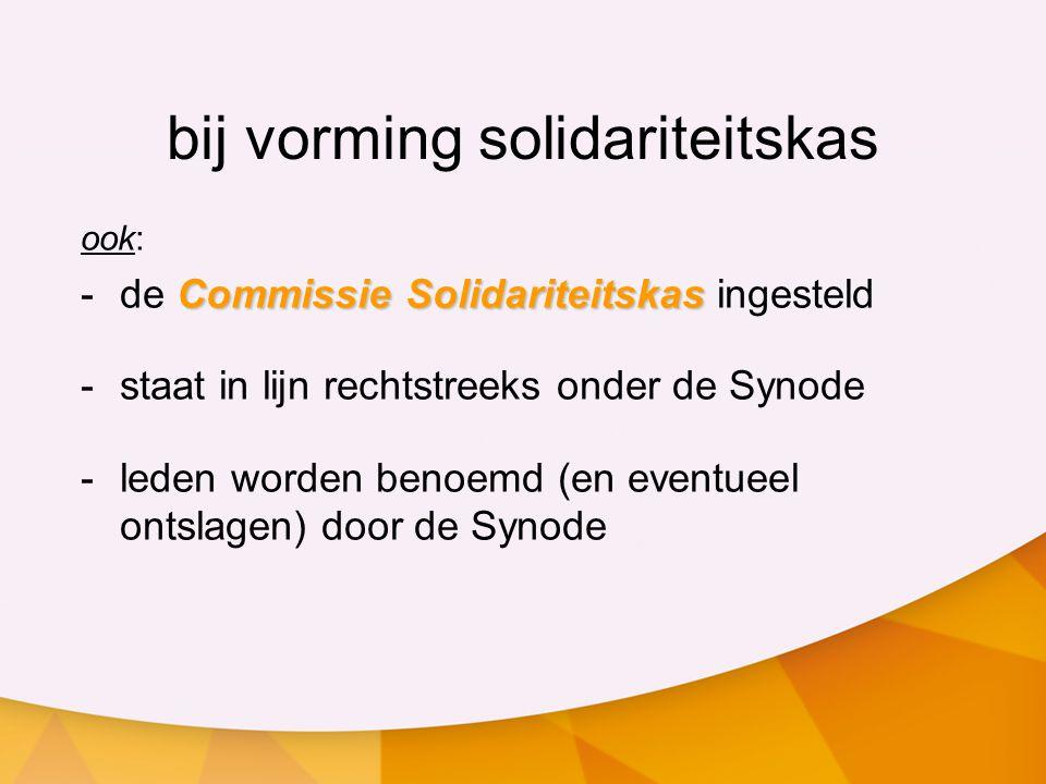 nieuwe criteria steunverlening 2 Kleine Synode 11 juni 2010 rapport Van gemeenten tot gemeenten algemeen kader t.b.v.