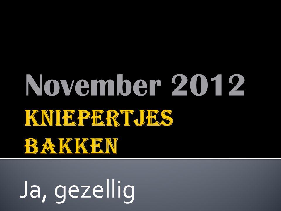 November 2012 Ja, gezellig