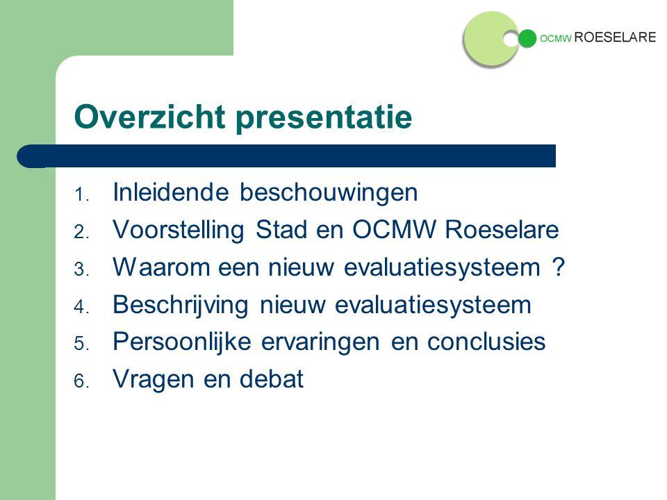 Overzicht presentatie 1.Inleidende beschouwingen 2.