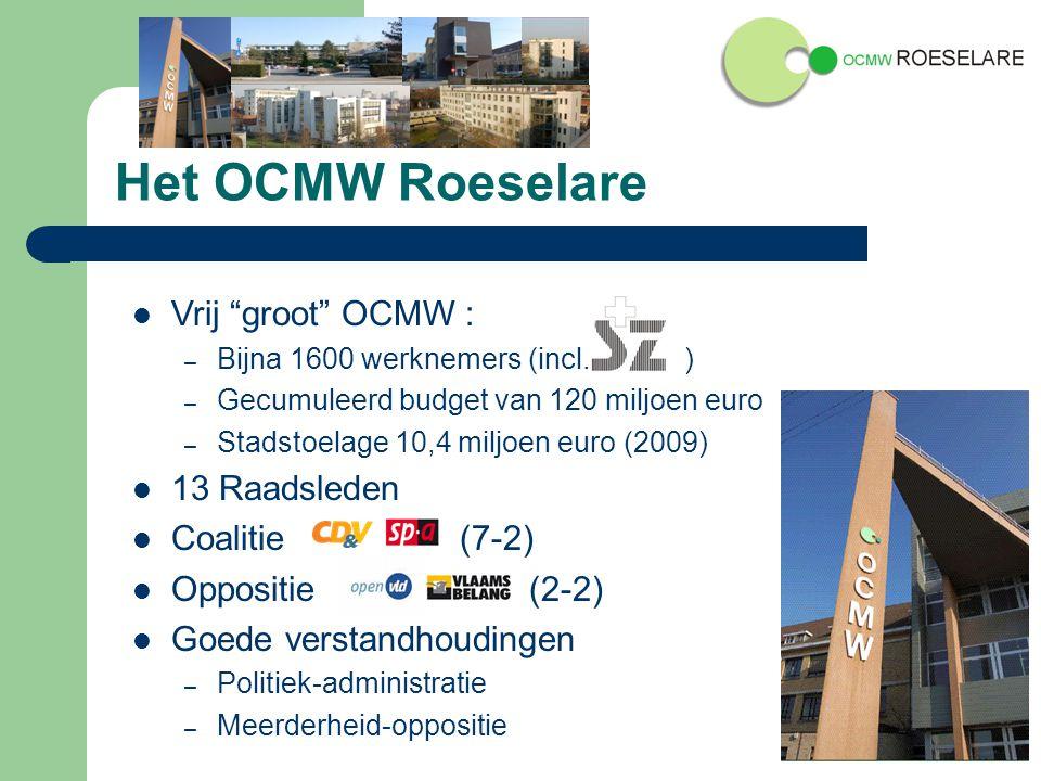 Het OCMW Roeselare Vrij groot OCMW : – Bijna 1600 werknemers (incl.