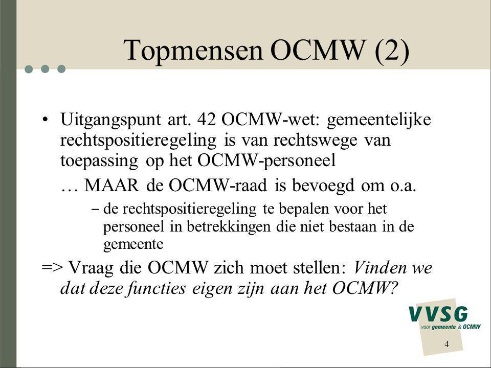 Topmensen OCMW (3) Toekomst: art.