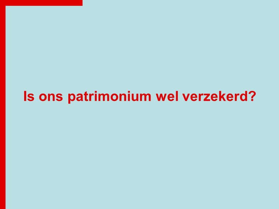 Is ons patrimonium wel verzekerd?