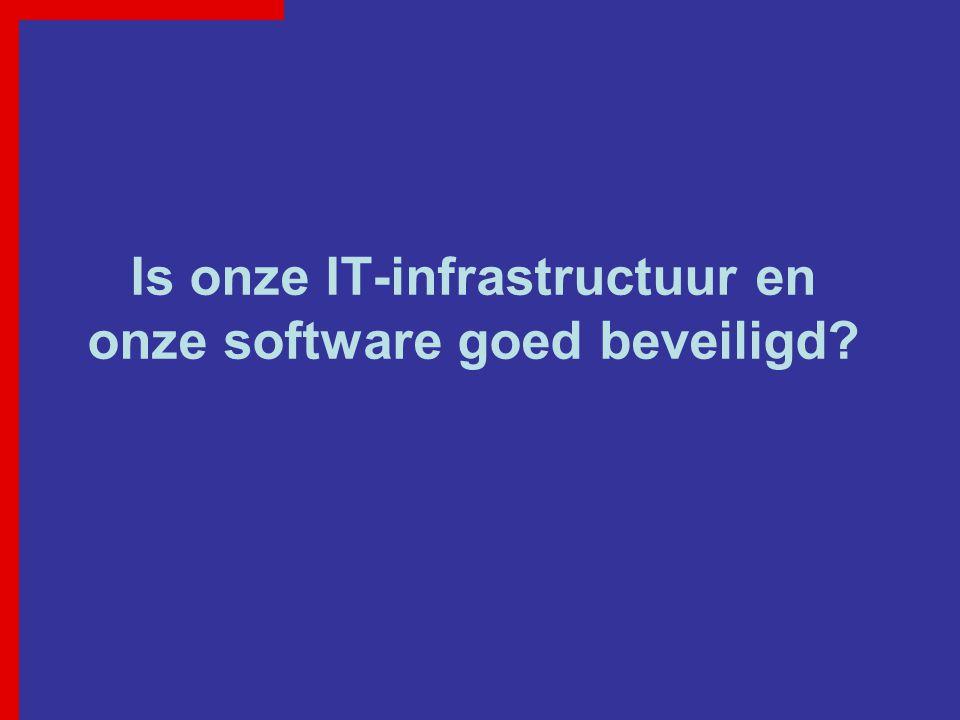 Is onze IT-infrastructuur en onze software goed beveiligd?