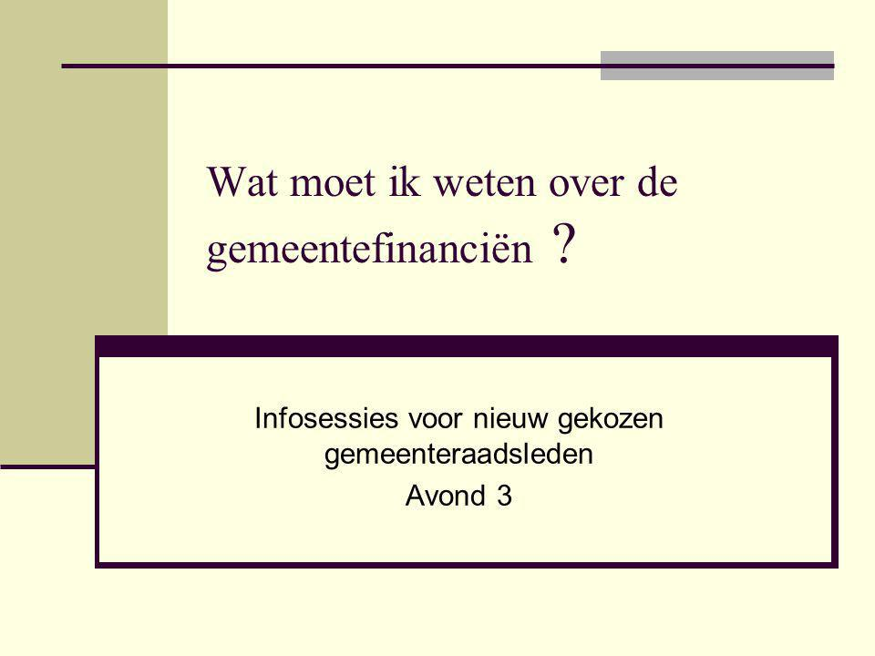 Introductieprogramma nieuw gekozen mandatarissen 4 Inhoud Vooraf Plannen en budgetteren Boekhouding Jaarrekening Financiële rol van diverse spelers Gemeenten financieel