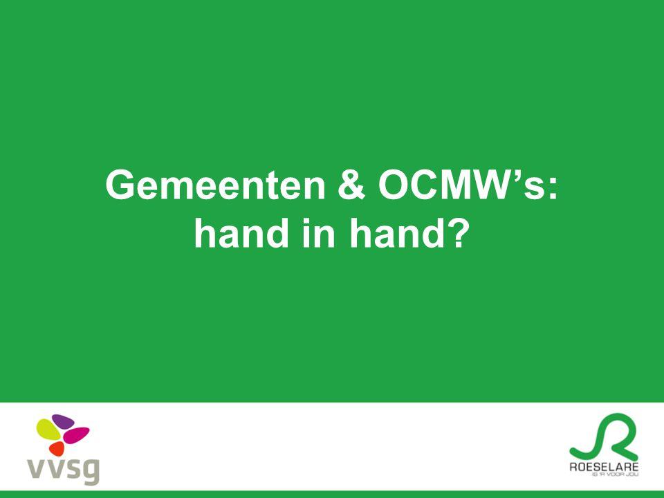 Gemeenten & OCMW's: hand in hand