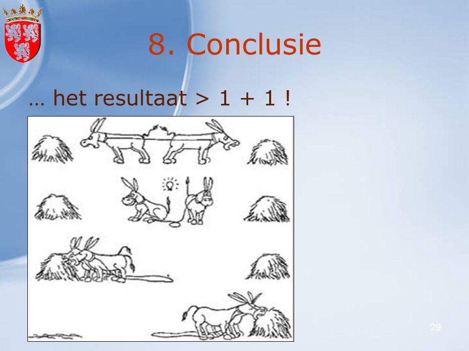 27 februari 2008VLO-VFG29 8. Conclusie … het resultaat > 1 + 1 !