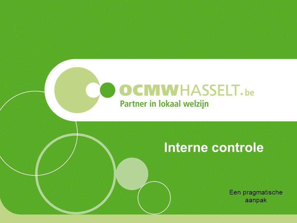 Interne controle Een pragmatische aanpak
