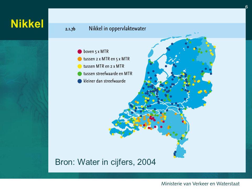 6 Nikkel Bron: Water in cijfers, 2004