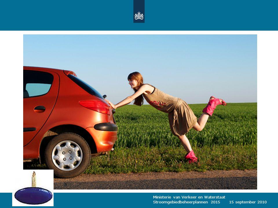 Ministerie van Verkeer en Waterstaat Stroomgebiedbeheerplannen 20151415 september 2010