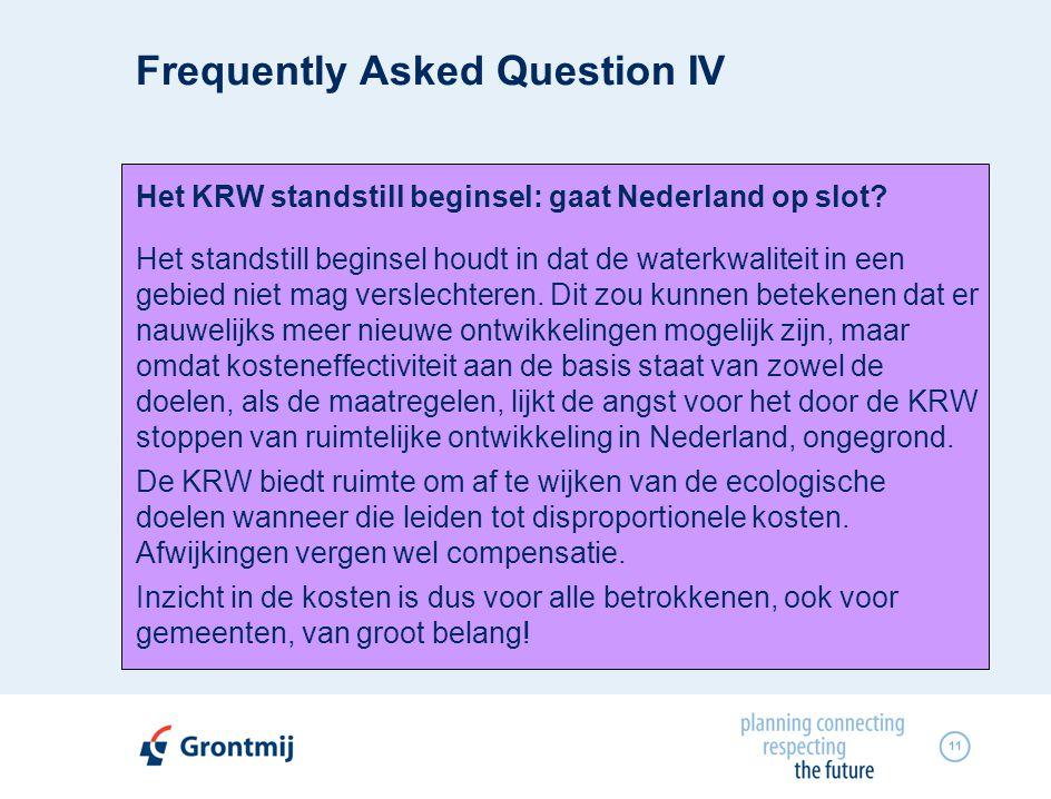 11 Het KRW standstill beginsel: gaat Nederland op slot.