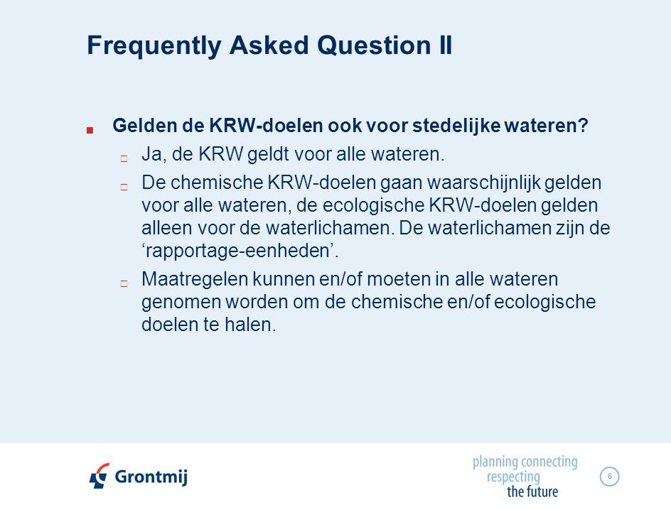 6  Gelden de KRW-doelen ook voor stedelijke wateren.