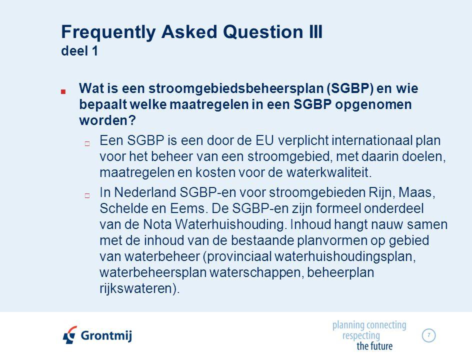 8  Wat is een stroomgebiedsbeheersplan (SGBP) en wie bepaalt welke maatregelen in een SGBP opgenomen worden.