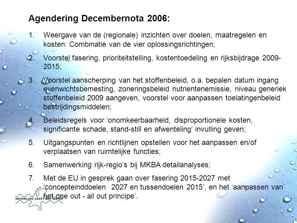 Agendering Decembernota 2006: 1.