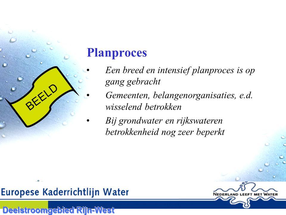 Planproces Een breed en intensief planproces is op gang gebracht Gemeenten, belangenorganisaties, e.d.