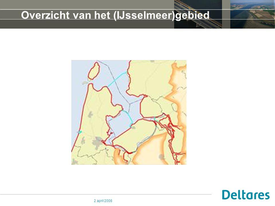 2 april 2008 Overzicht van het (IJsselmeer)gebied