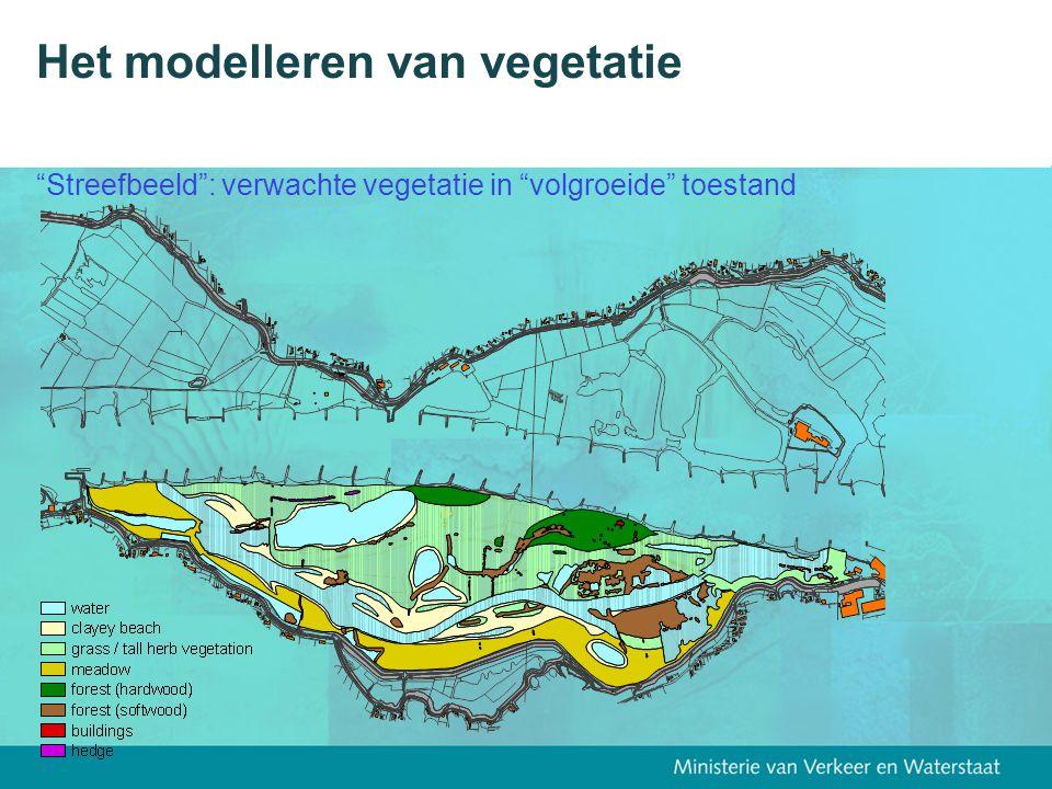 """Het modelleren van vegetatie """"Streefbeeld"""": verwachte vegetatie in """"volgroeide"""" toestand"""