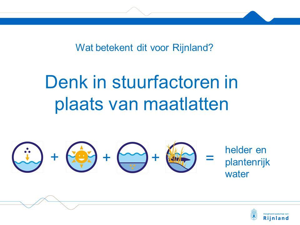 Wat betekent dit voor Rijnland.