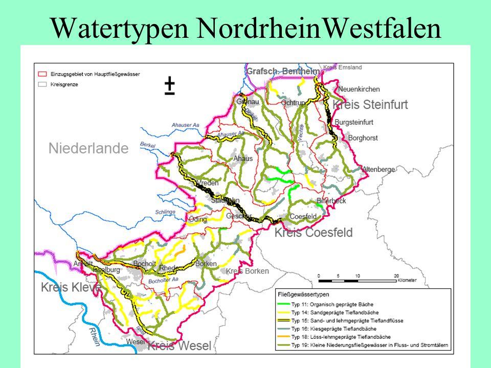 Watertypen NordrheinWestfalen