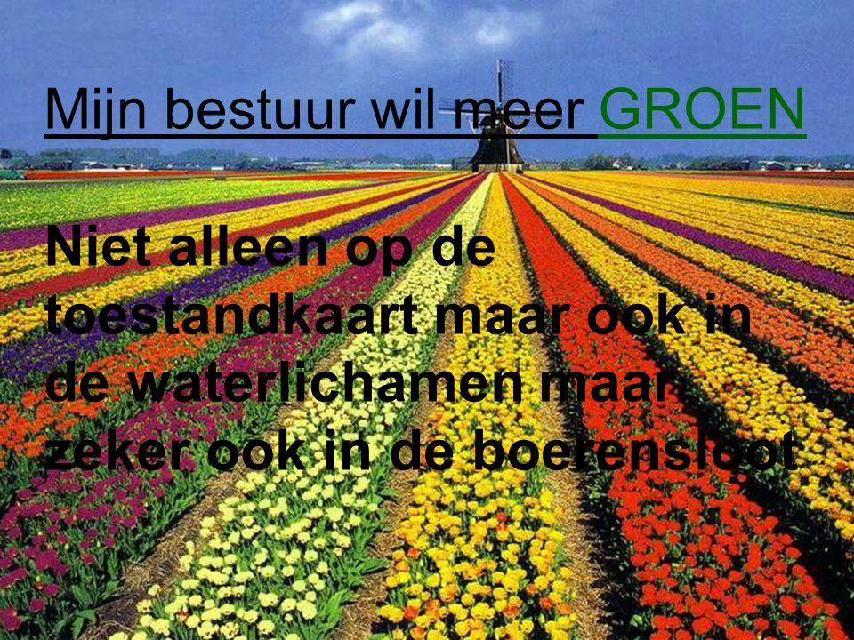 Kaderrichtlijn Water 10 Ministerie van Infrastructuur en Milieu Nederlands Platform voor Waterschapsecologen - 3 December 2012 Mijn bestuur wil meer G
