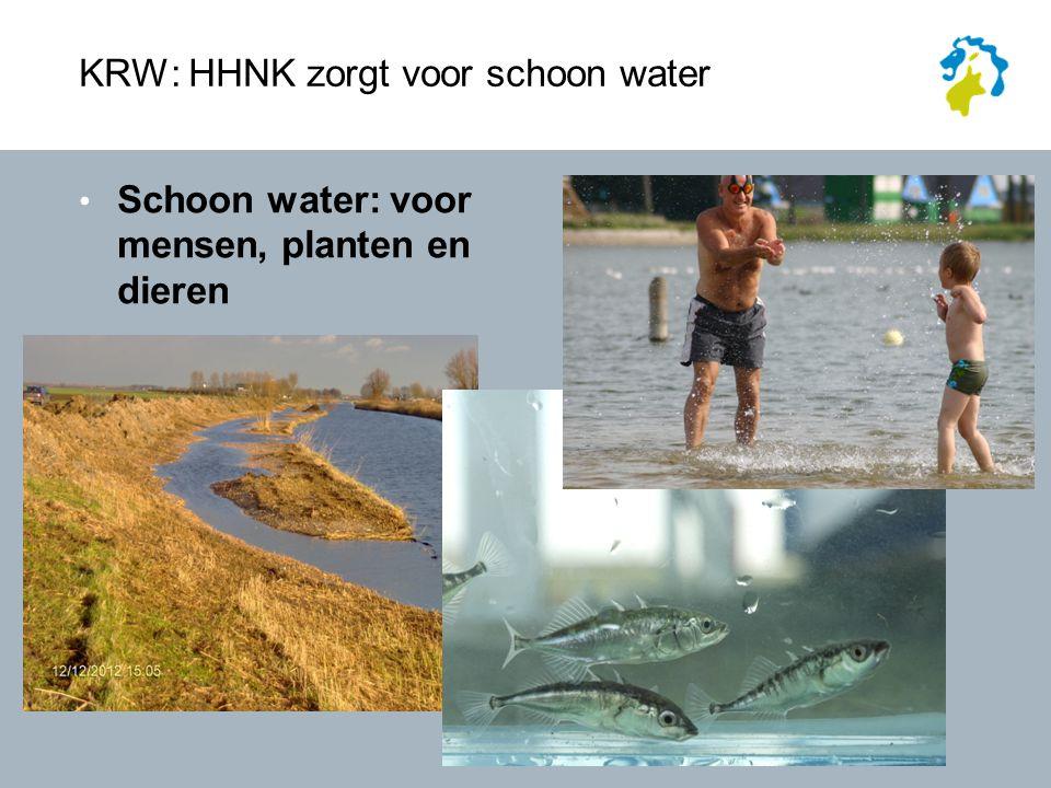 HHNK zorgt voor schoon water Schoon water: voor mensen, planten en dieren