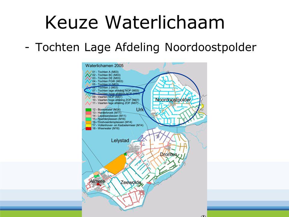 Keuze Waterlichaam -Tochten Lage Afdeling Noordoostpolder