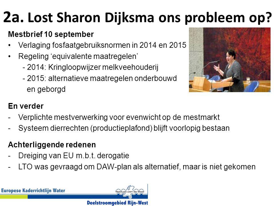 2a.Lost Sharon Dijksma ons probleem op.