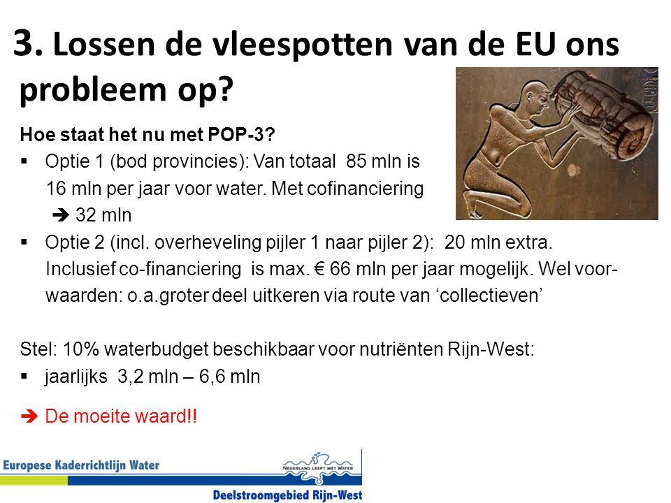 3.Lossen de vleespotten van de EU ons probleem op.