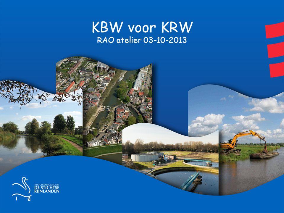 KBW systematiek Vergelijken varianten met financiële gevolgen Module 1.