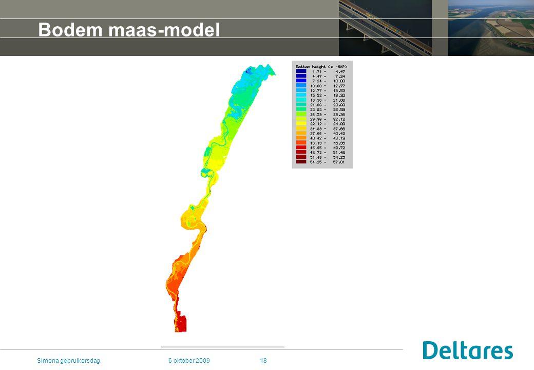 6 oktober 2009Simona gebruikersdag18 Bodem maas-model