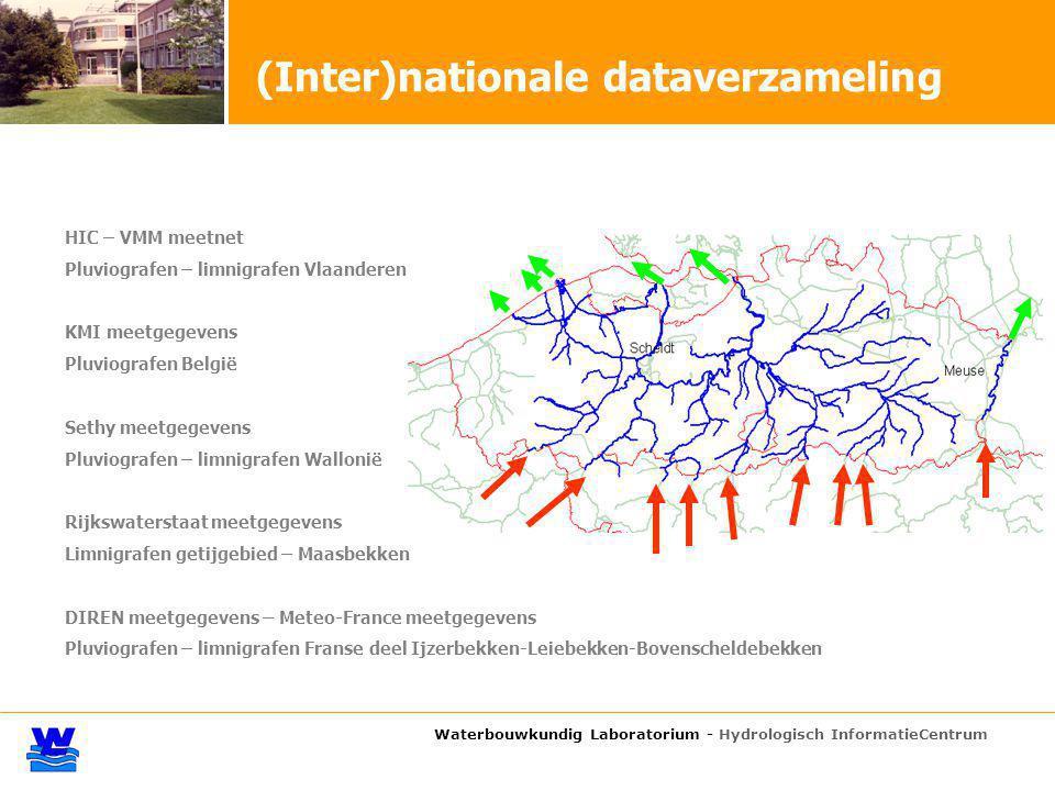 Waterbouwkundig Laboratorium - Hydrologisch InformatieCentrum HIC – VMM meetnet Pluviografen – limnigrafen Vlaanderen KMI meetgegevens Pluviografen Be