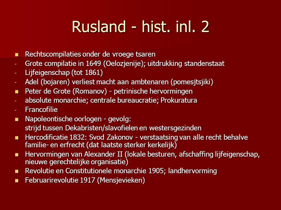 Rusland - hist.inl.