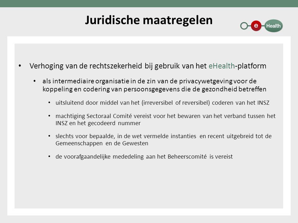 Verhoging van de rechtszekerheid bij gebruik van het eHealth-platform als intermediaire organisatie in de zin van de privacywetgeving voor de koppelin